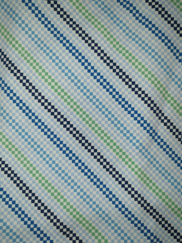 JER Streifen Karos weiß blau